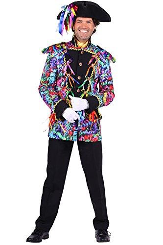 Luftschlangen-Jacke in bunt | Garde-Uniform | Luftschlangen-Jackett (L)