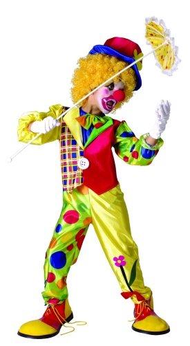 Generique - Déguisement Clown Multicolore garçon M 7-9 Ans (120-130 cm)