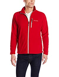 Columbia Fast Trek Ii Full Zip Fleece,  Forro polar Para Hombre, Rojo (Rocket), XL