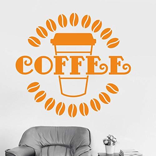 zzlfn3lv Latte Cafeteria cafés EIS pan Kuchen küche wandkunst abnehmbare DIY Aufkleber Dekoration Wandbild Decor 52 * 58 cm -