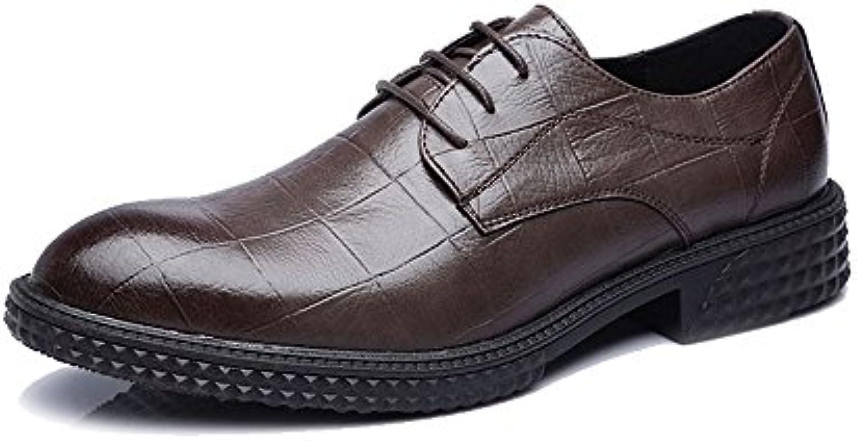MXNET Leder Oxford Schuh Männer  Formale Geschäfts PU Leder Beschuht Klassische Spitze Oben Müßiggänger Quadrat BeschaffenheitMXNET Leder Oxford Schuh Männer Geschäfts PU Leder Spitze Oben Müßiggänger Quadrat Beschaffenheit