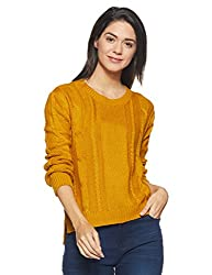 People Womens Pullover (P20401186085152_Yellow_Medium)