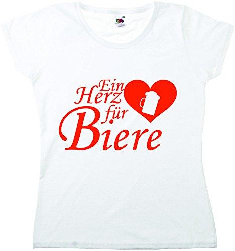 T-Shirt Oktoberfest Wiesn München Junggesellenabschied für Frauen Männer und Kinder in allen Größen XS bis 4XL oder Kinder 104 bis 164 Motiv Nr.49 Damen-Weiß
