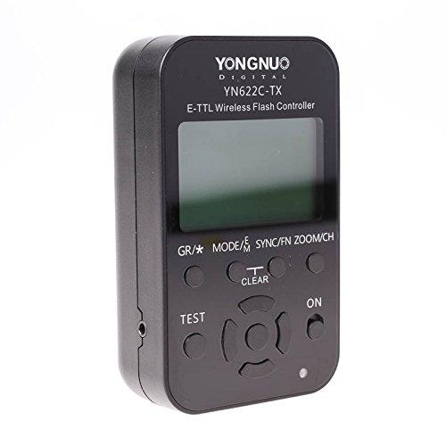 Yongnuo Steuereinheit YN-622C-TX Canon E-TTL Blitz- und Funkauslöser für YN-622C ETTL Funkauslöser mit 100 m Funkreichweite, AF-Hilfslicht, SCS, HSS, SuperSynch und Gruppensteuerung