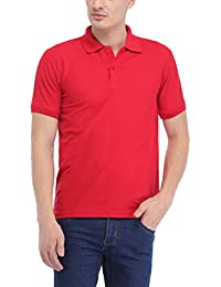 Trendy Trotters Red Polo Cotton T-Shirt