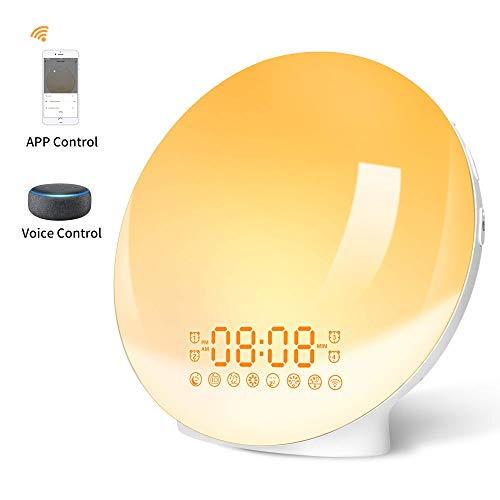 Wake Up Light Wifi Inteligente Luces Despertador LED