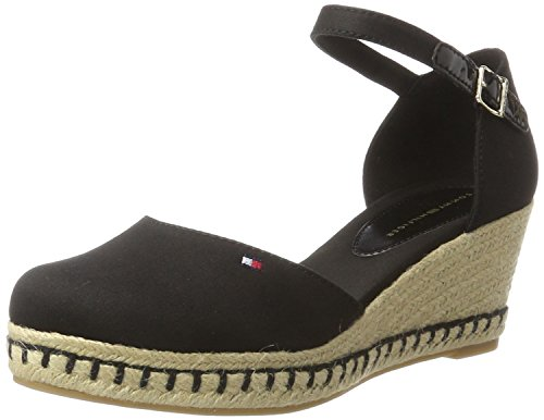 E1285lba Di Sandali Hilfiger 32d Donna Tommy Colore Toe Open 990 nero Hq5RxOw