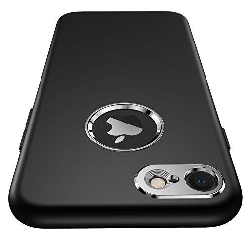 """Garegce Custodia iPhone 8/ Cover iPhone 7, [Vetro Temperato Screen Protector Film] Silicone Morbido [Ultra Sottile] Anti-Graffio Opaco Protettiva Case per iPhone 8/ iPhone 7 4.7"""" - Nero"""