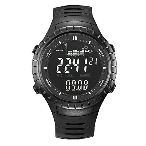 zmigrapddn Outdoor Wasserdicht Digital Alarm Höhenmesser Barometer Thermometer Angeln Sport Uhr für Herren