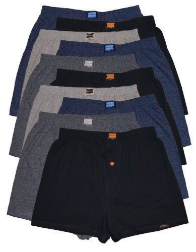 10 Boxershorts in klassischen Grundfarben - locker & weiche Unterhose Short Boxer 100% Baumwolle 10er Spar Pack Jungen Man M L XL 2XL 3XL 4XL Klassisch