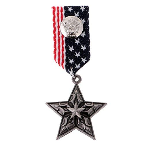 Uniform Kostüm Band - Baoblaze Formale Uniform Medaille Abzeichen Brosche Pin Band Partei Kostüm US Navy Style Mens Pin Corsage