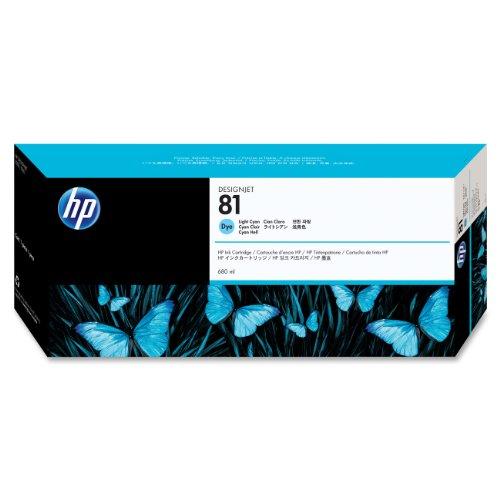 HP 81 Cyan hell Original Tintenpatrone, farbstoffbasiert, 680 ml