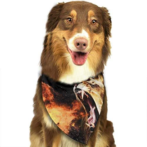 Dog Muster Kostüm Lion - Pet Dog Scarf Handsome Fire Lion Graphic Washable Dog Puppy Triangle Banna Bib Babys Neckerchief Accessories