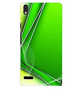 PrintDhaba GREEN PATTERN D-6471 Back Case Cover for HUAWEI ASCEND P6 (Multi-Coloured)