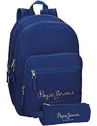 Pepe Jeans Olaia Sac à dos loisir, 32 cm, 9.6 liters, (Azul)