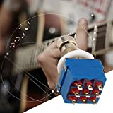 9-pin 3PDT Guitar Effects Pedal Box Stomp Foot Metal Switch True Bypass Practical Metal Switch Guitar Accessories Blue & Silver