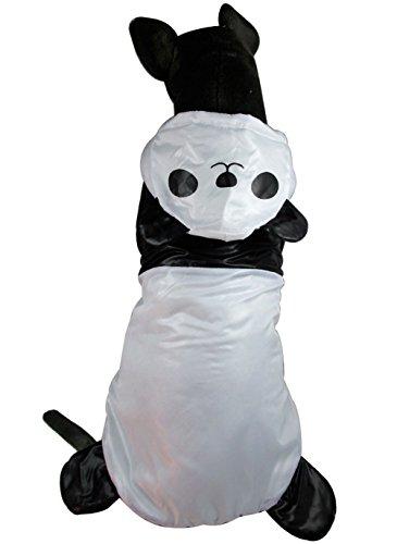 zunea süsse Haustier Panda Kostüm Hoodie Gepolsterte Warm Hund Wintermantel Jacke Winddicht Kleidung Textilien, für große Medium Hund (Mops Kostüm Panda)