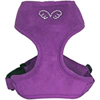 Puppy Angel Du Angione Suede Harness, X-Large, Purple