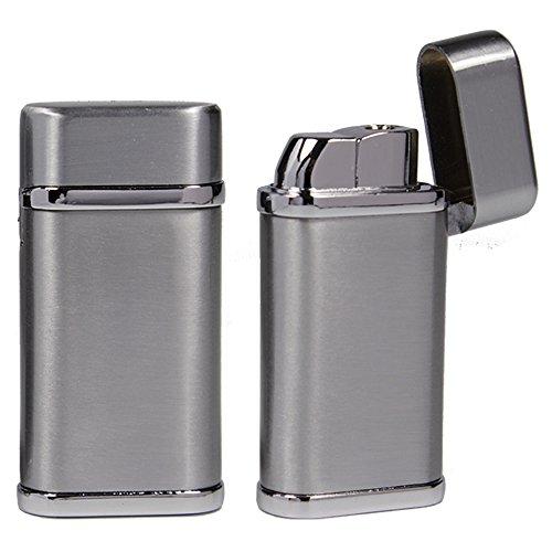 Bulentini Sturmfeuerzeug Phoenix Turbo Feuerzeug Metall - Outdoor Jet Flame Torch Gas Lighter (Silver Satin)