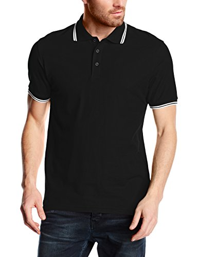 fruit-of-the-loom-premium-tipped-polo-col-polo-manches-courtes-homme-noir-black-white-xxx-large