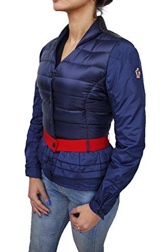 Piumino donna moncler original modello caen blu giacca giubbotto piuma d'oca taglia 40-42 (0) (40/42)
