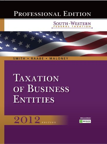 south-western-federal-taxation-2012-taxation-of-business-entities-professional-edition-with-hr-block