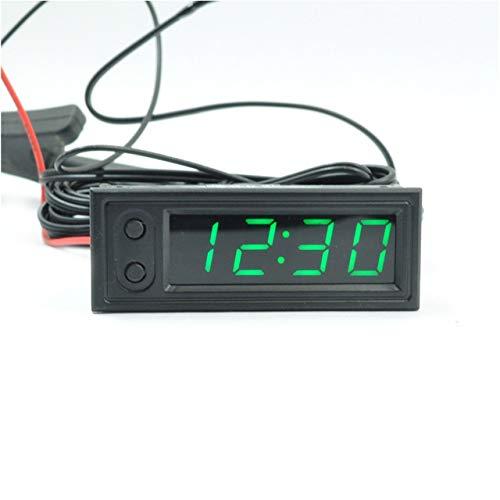 3-en-1 Coche Vehículo Reloj Tubo Digital Voltímetro LED Termómetro ...