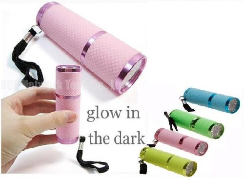 Electromart-9-Led-Ultra-Bright-Rubber-Glow-In-The-Dark-Luminous-Torch