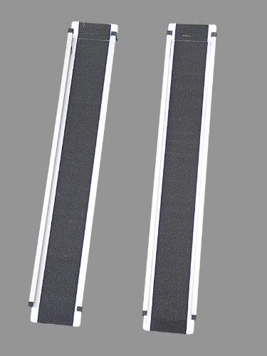 Alu-Auffahrrampen-Set verzinkter Stahl