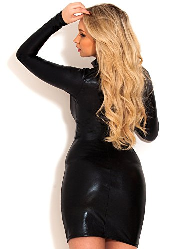 Mini robe Athena Wetlook Noir