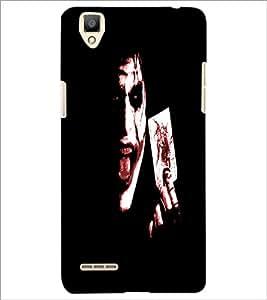 PrintDhaba Joker D-4849 Back Case Cover for OPPO F1 (Multi-Coloured)