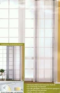 g zze schiebevorhang weiss schwarz grau grun gestreift 60x. Black Bedroom Furniture Sets. Home Design Ideas