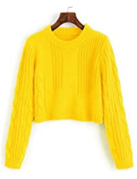 on sale cfe19 d7791 Amazon.it: maglione giallo donna - Donna: Abbigliamento