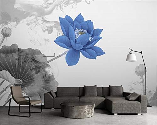 MuralXW Persönlichkeit dekorative Malerei Tapete Neue chinesische künstlerische Konzeption Aquarell Lotus TV Hintergrund 3D Tapete-280x200cm
