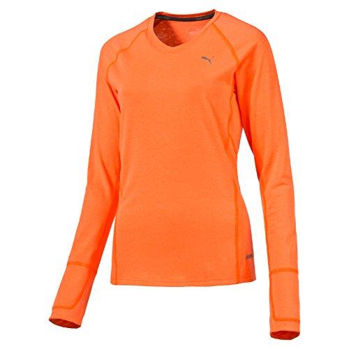 Puma T-shirt pwrwarm L/S Thé W, Shocking Orange Orange - Orange