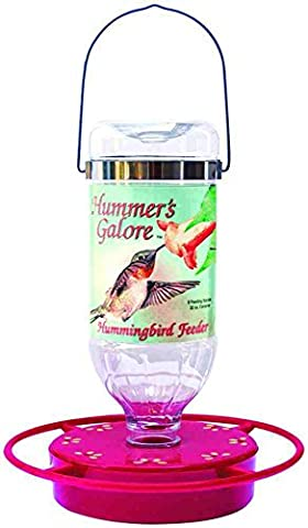 Hummer's Galore Jewel Hummingbird Feeder 32 oz Capacity Perch And Flower Pedals