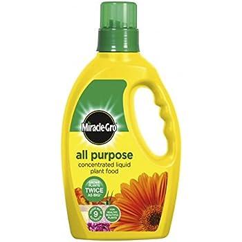 Miracle Gro Engrais tous usages 1L Engrais Concentré liquide. 9nutriments