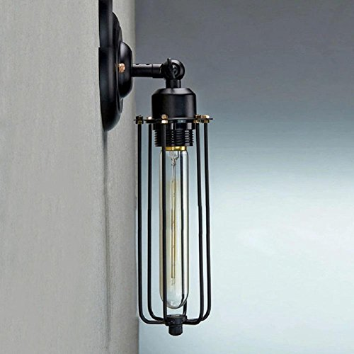 HAILONGWANG Weinlese-Eisen-Gang-Wand amerikanischen Land Gastronomie Wind Nachttischlampe Wand Cafe , light source