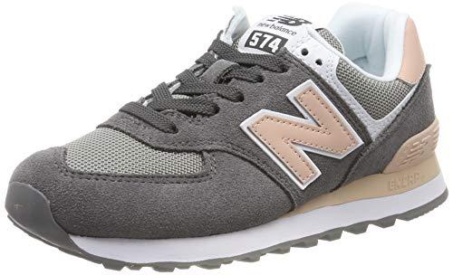 New Balance Damen WL574 B Sneaker, Grau Grey, 40 EU