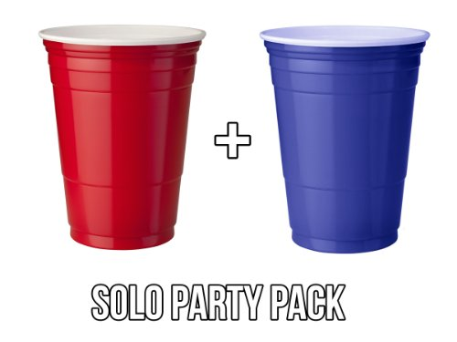 Solo Red & Blue Cup Party Pack - Rote & Blaue Becher für Party & Beer Pong (50 Rot + 50 Blau)