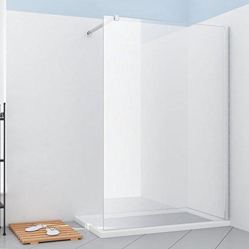 Walk In Dusche Duschabtrennung Duschwand Duschkabine 110x195cm aus ESG Sicherheitsglas mit Nanobeschichtung
