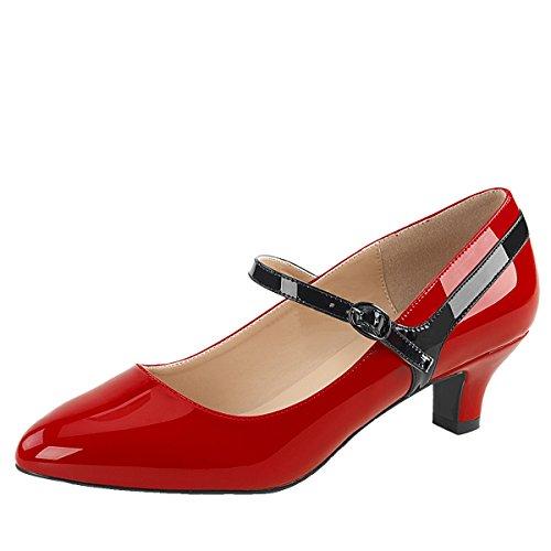 Heels-Perfect - Scarpe da Ginnastica Basse Donna Rosso (Rot)
