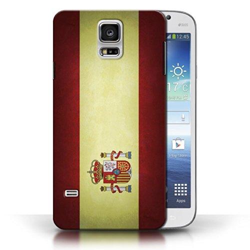 Coque en plastique pour Samsung Galaxy S5/SV Collection Drapeau - Pays de Galles/gallois Espagne/espagnol