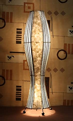 Asiatische Stehleuchten Udon Shell M (LA22-06/FS/M), Stehlampen, Designer Stimmungsleuchten, Bali