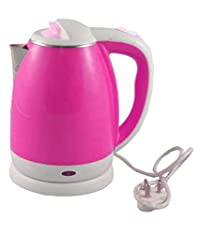 Shine Star 1.8 Liters 1500 Watts Stainless Steel Pink Ss932 Electric Kettle