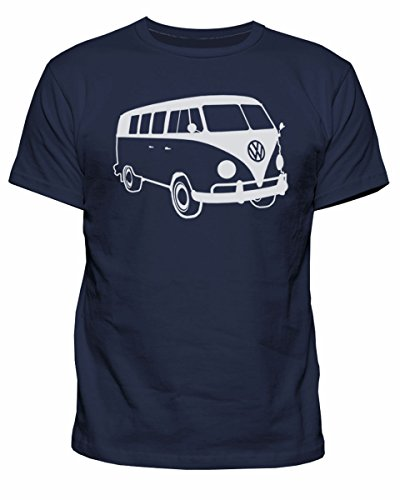 Mens VW Campervan Retro T-shirt - S to XXL - Choice of Colours