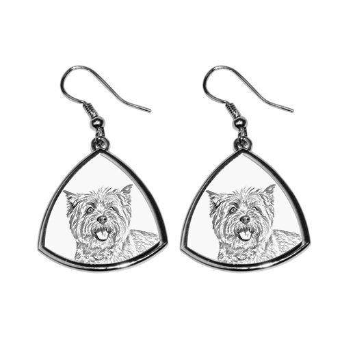 Cairn Terrier, Sammlung von Ohrringe mit Bildern von reinrassigen Hunden, einzigartiges Geschenk -
