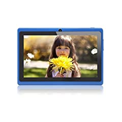 Idea Regalo - JEJA 7 Pollici Android Tablet PC Google 4.2.2 8GB WiFi Dual Core Doppia Fotocamera Touch Screen Capacitivo Allwinner A23 1.5GHz 512MB DDR3 - Colore Blu