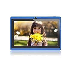 Idea Regalo - JEJA 7 Pollici Android Tablet PC Google 4.2.2 8GB WiFi Dual Core Doppia Fotocamera Touch Screen Capacitivo Allwinner A23 1.5GHz 512MB DDR3 - Colore Blu
