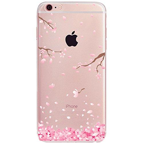 Custodia per iPhone 5S brillantini Bling, Cover iPhone 5 Love Hearts Case, Kakashop 3D creativo che scorre copertura della cassa del galleggiante Acqua Liquido Nuoto Piccolo Amore Hearts Design Lusso  Cherry